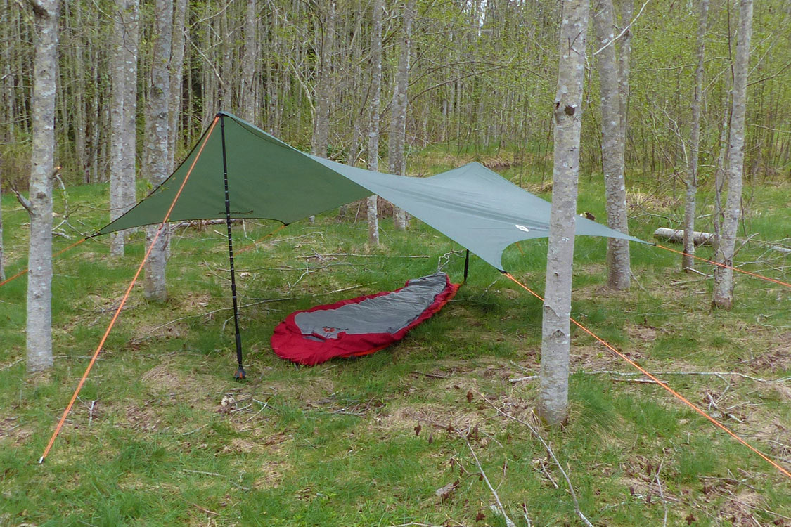 Wingman Tarp Setup With Hiking Poles